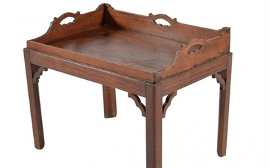 A mahogany 'butler's tray' table