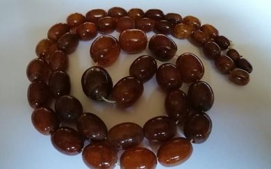 Antique Baltic Amber necklace. Amber - Necklace - Natural (untreated)
