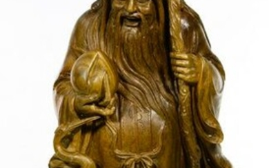 Asian Style Carved Wood Figure