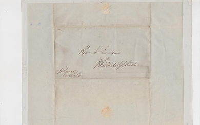 Autograph Letter from Godfrey Levi of Liverpool, England to Rev. Isaac Leeser in Philadelphia, Pennsylvania, U.S.A. dated April 26, 1850, providing statement of account Leeser had with Levi ias of April 26, 1850. It refers to subscriptions of the...