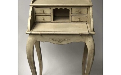 BUREAU, French Louis XV style grey painted with drawers and ...