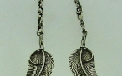CHARLEY STAMPED BOHEMIAN STYLE STERLING SILVER DANGLE
