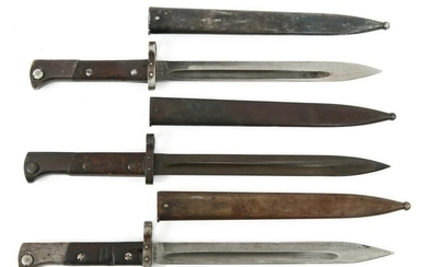 CSZ MAUSER BAYONETS WITH SCABBARDS LOT OF 3