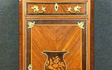 Ceremonial furniture in precious wood marquetry - Louis XVI - Bronze, Marble, Rosewood, Wood - Circa 1800