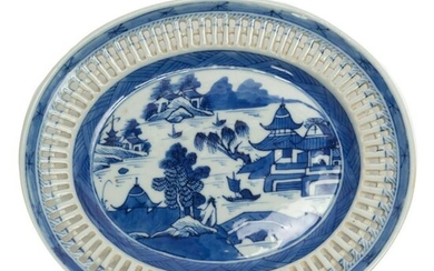 Chinese Antique 19th C. Canton Porcelain Plate
