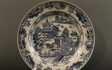 Chinese Blue-White 'Landscape' Plate