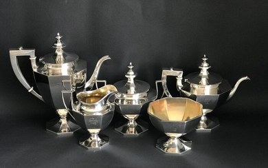 Coffee and Tea Service (5) - 925 Sterling Silver Gorham -U.S. - Early 20th century - Silver - U.S. - Early 20th century
