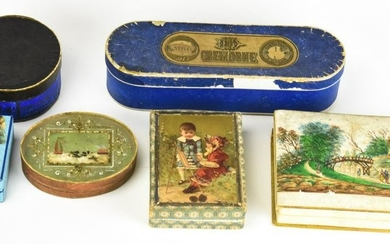 Collection Antique 19th C Candy & Accessory Boxes