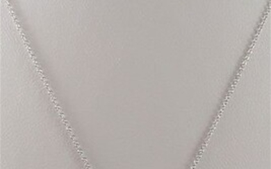 Comete - 18 kt. White gold - Necklace with pendant Pearl