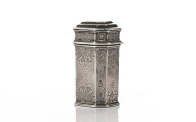 DUTCH 18TH C SILVER SNUFF BOX 19g