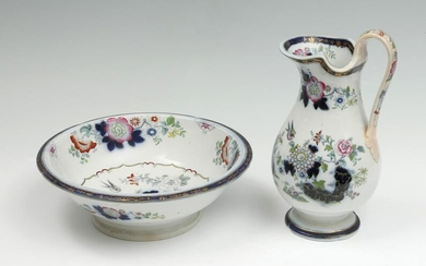 ENGLISH PORCELAIN PITCHER AND BASIN