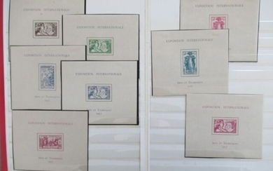 Former French colonies 1937 - Series of blocks from the world's fair