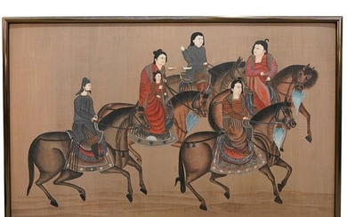 Framed Chinese Painting on Cloth