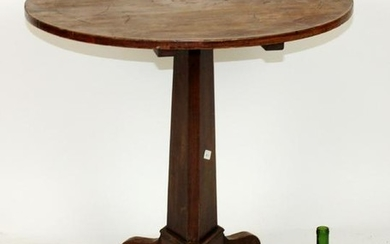 French Directoire inlaid tilt top table
