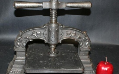 French cast iron book press
