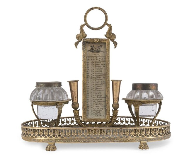 GILT METAL INKWELL EMPIRE PERIOD