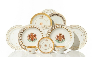 GROUP OF ASSORTED ENGLISH REGENCY TABLEWARE