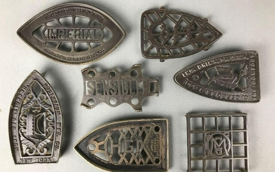 Group of 7 : Antique Cast Iron Trivets for Sad Irons
