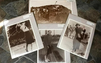 Group of Vintage Women Golfers, Golf Club Sepia Tone