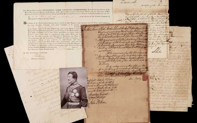 India. Group of signed letters and documents, 18th-20th century