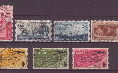Italy Kingdom 1933/1936 - Small lot of high values and airmail with original cancellation - Sassone NN. A54-404-405-A99-A56-A57-A58