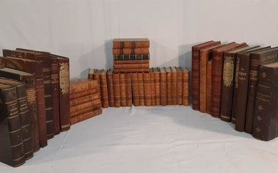 LOT OF 45 LEATHER BOUND BOOKS