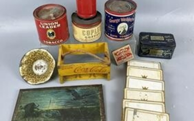 Large Group of Antique Advertising Tins