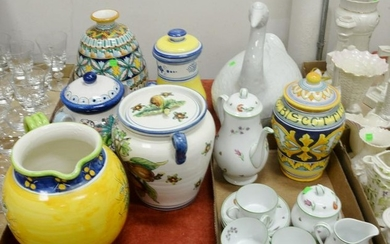Large Group of Pottery & Porcelain, to include Tiffany