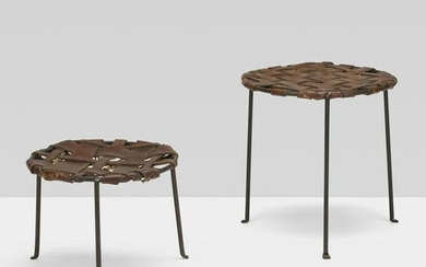 Lila Swift and Donald Monell, stools, set of two