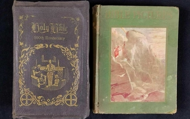 Lot of two Vintage Bible Books 500th Anniversary Bible