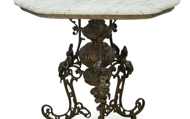 Marble and Gilt Metal Table Base