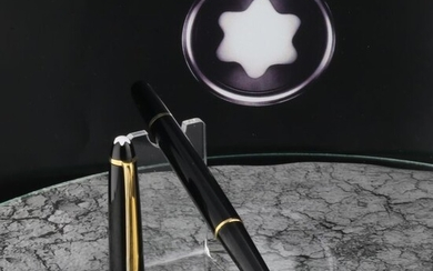 Montblanc - Fountain pen - Meisterstuck 144 - Black 14K Gold Nib 4810 - Polished & Cleansed New Conditionof 1