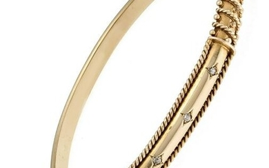 Old cut diamond bangle Vi