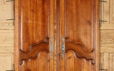 PAIR 19TH C. FRENCH WALNUT ARMOIRE DOORS