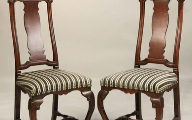 Pair of Baroque Beechwood Side Chairs