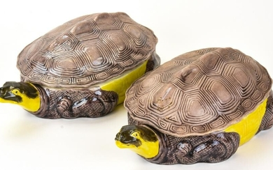 Pair of Chinese Porcelain Turtle Soup Tureens