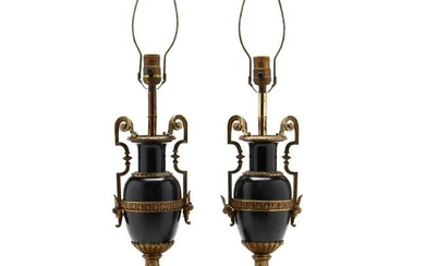 Pair of Neoclassical Style Urn Table Lamps