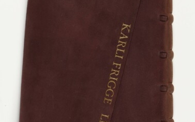 [Paper. Bookbindings]. Frigge, K. Leather books. Joppe, the...