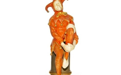 ROYAL DOULTON FIGURE, SEATED JESTER BY NOKE