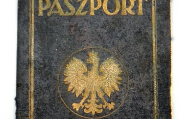 Rare Polish Travel Certificate Passport of a Jewish Woman Who Immigrated to The Land of Israel