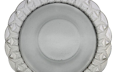 René Lalique (1860-1945) a 'Chevreuse' clear and frosted glass Bowl...