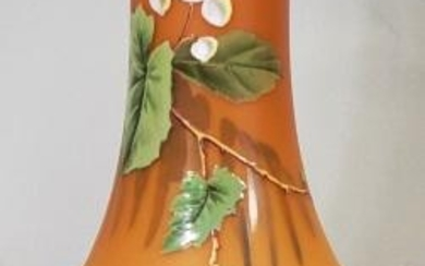 *SATIN GLASS VASE