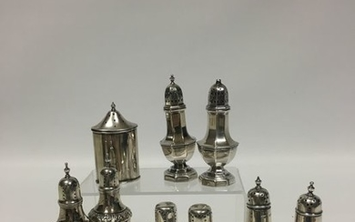 Salt and pepper (9) - silver plated