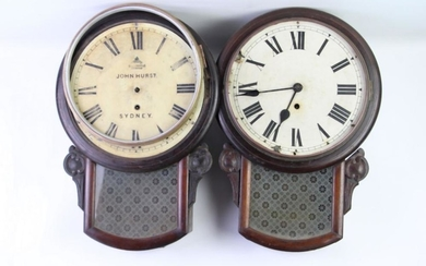 Set Of Four Timber Cased Clocks (Sold As Found), (One From State Penetentiary)