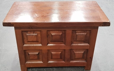 Small French Wooden Panelled Box (H: 40, W: 60, D: 35cm)
