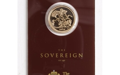 Sovereign 2018 BU in a Royal mint card