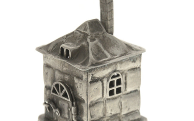 Sterling Silver House form Spice Tower Besamim, Judaica.