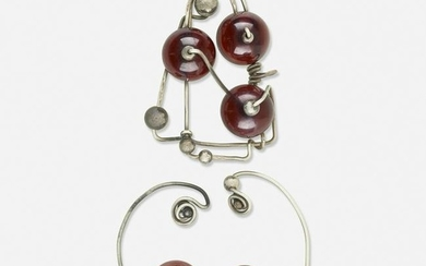 Suite of silver jewelry, attributed to Fannie Hillsmith