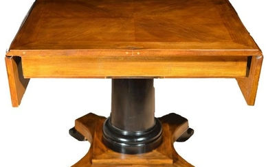 Table in Bandelle - Biedermeier 1860 - Biedermeier - Elm - Late 19th century