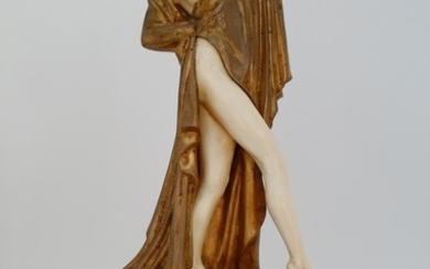 Theodor Stundl (Austria,1875-1934), 'In Pose', carved ivory and bronze figure.